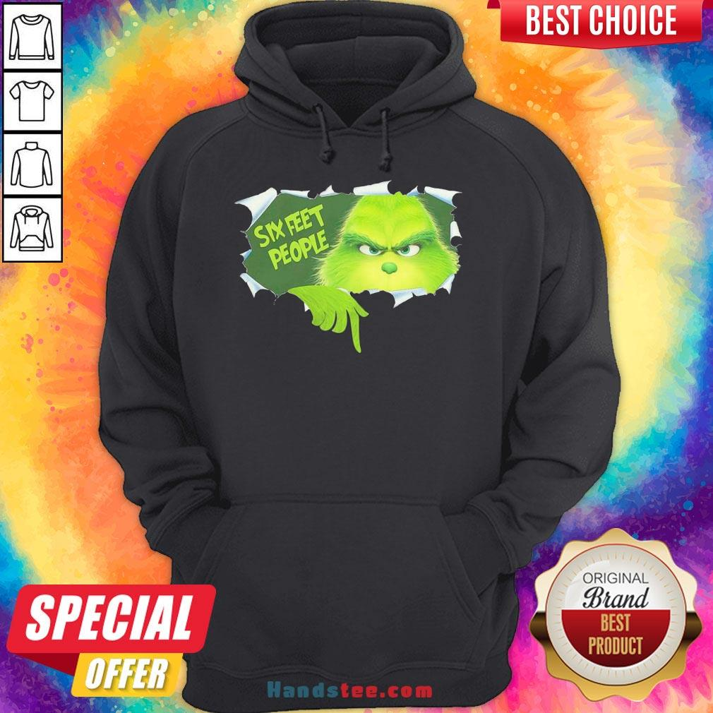 Happy The Grinch Six Feet People Hoodie- Design By Handstee.com