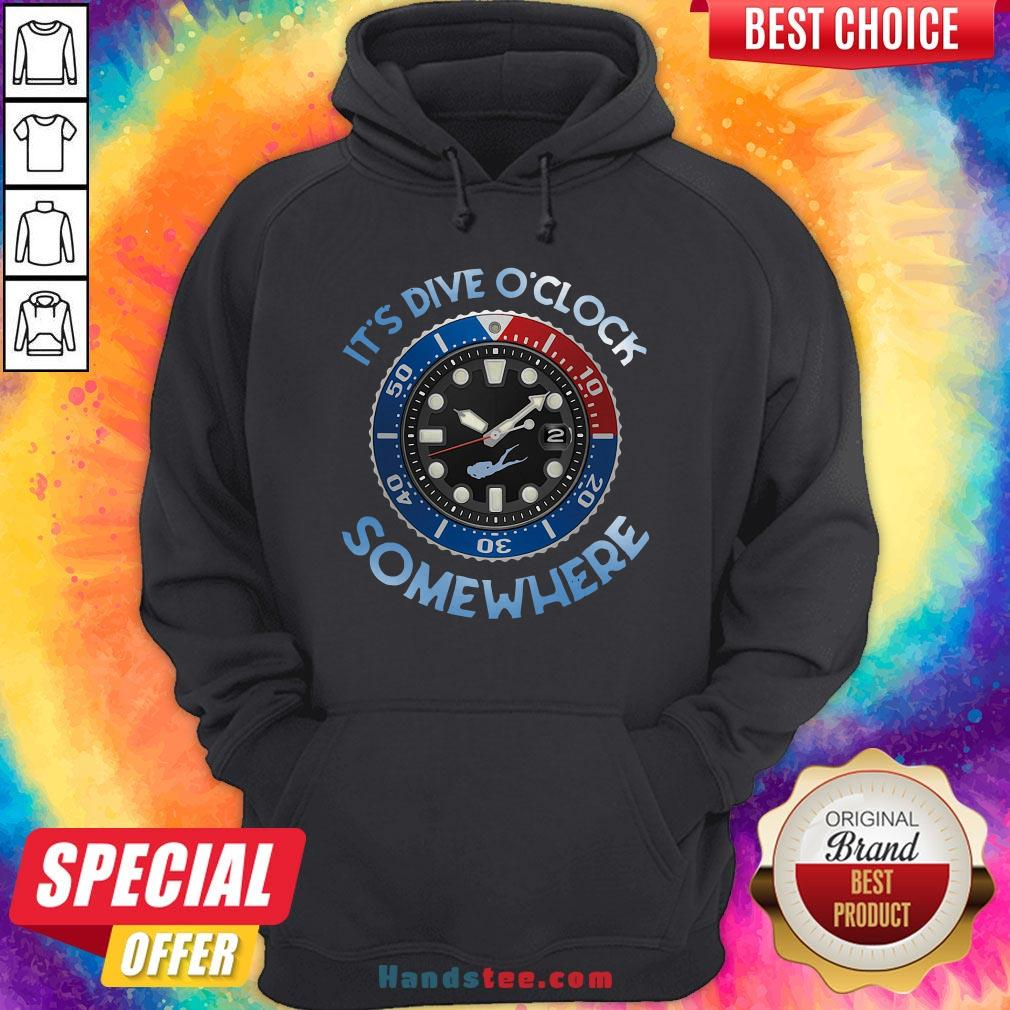 Awesome Scuba Diving It's Five O'clock Somewhere Hoodie - Design By Handstee.com