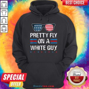 Nice Glasses Pretty Fly On A White Guy Hoodie - Design By Handstee.com