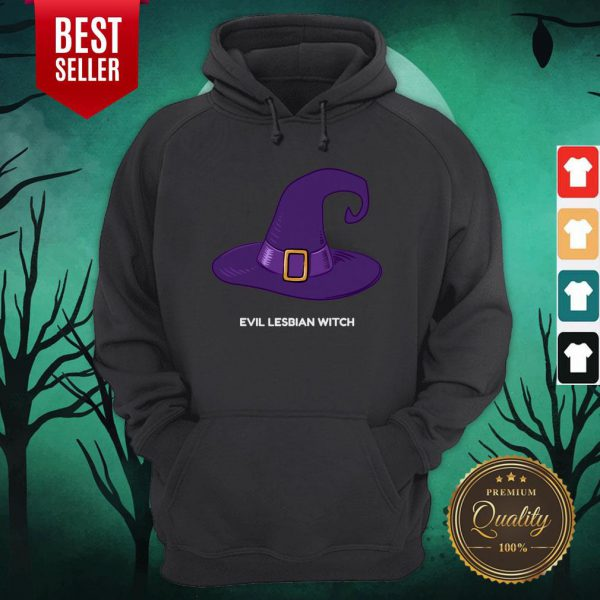 Evil Lesbian Witch Hat Halloween Hoodie