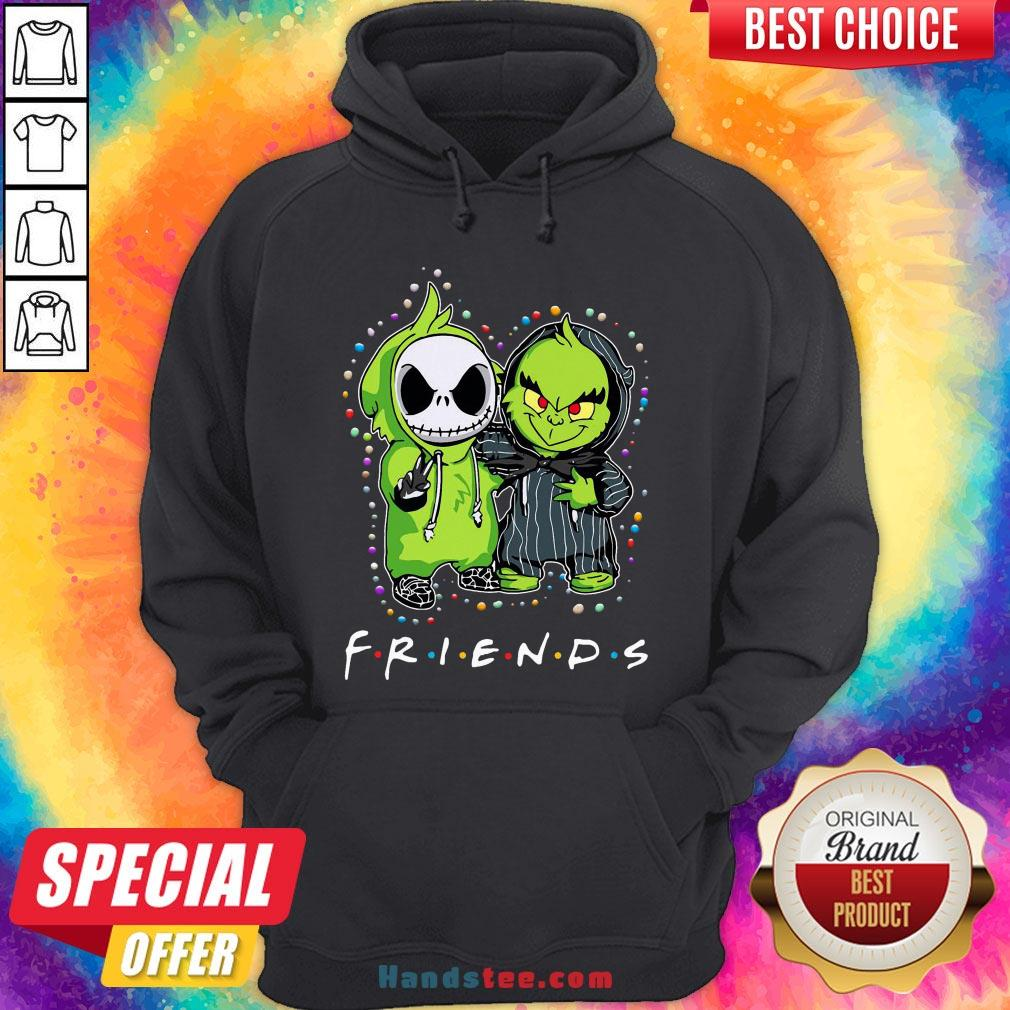 Baby Jack Skeleton And Baby Green Friends Light Christmas Hoodie - Design by Handstee.com