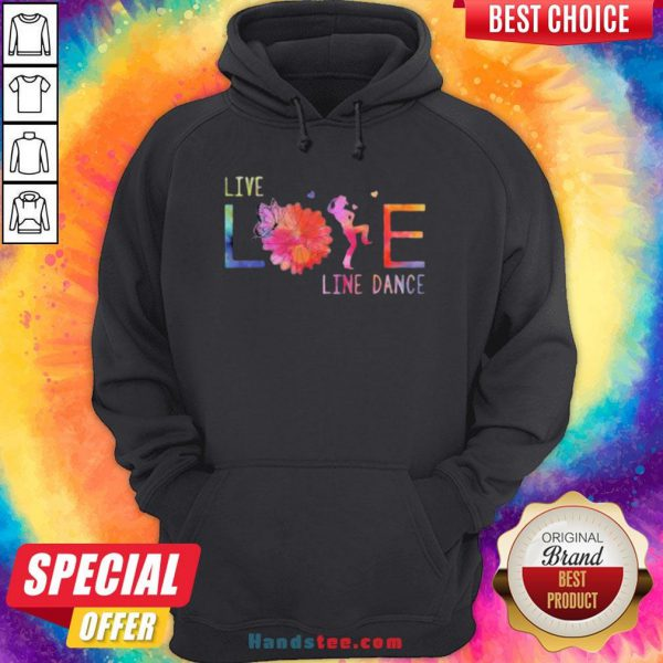 Colorful Live Life Line Dance 2020 Hoodie - Design by Handstee.com