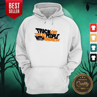 Trick Or Treat People With Kindness Ghost Halloween Hoodie