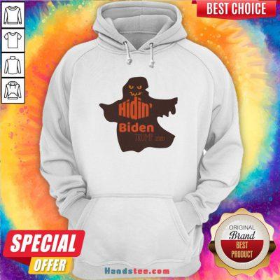 Ghost Hidin' Biden Trump 2020 Halloween Hoodie