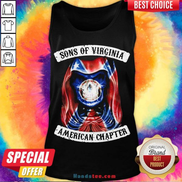 Nice Sons Of Virginia American Chapter British Flag Tank Top- Design By Handstee.com