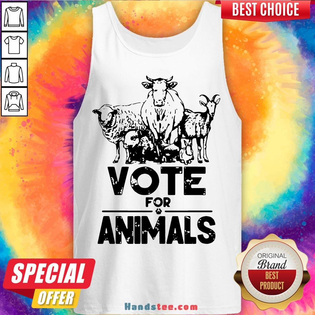 Nice Vote For Animals 2020 President  Tank Top- Design By Handstee.com
