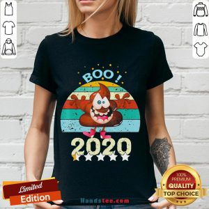Perfect Boo Poop 2020 Vintage V-neck- Design By Handstee.com