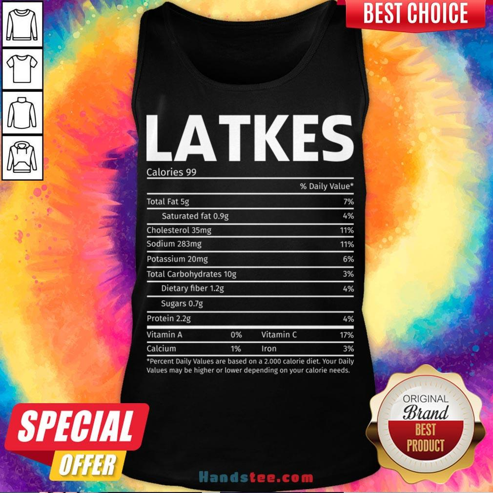 Perfect Latkes Nutrition Facts Thanksgiving Christmas Family Matching Gifts Tank Top- Design By Handstee.com