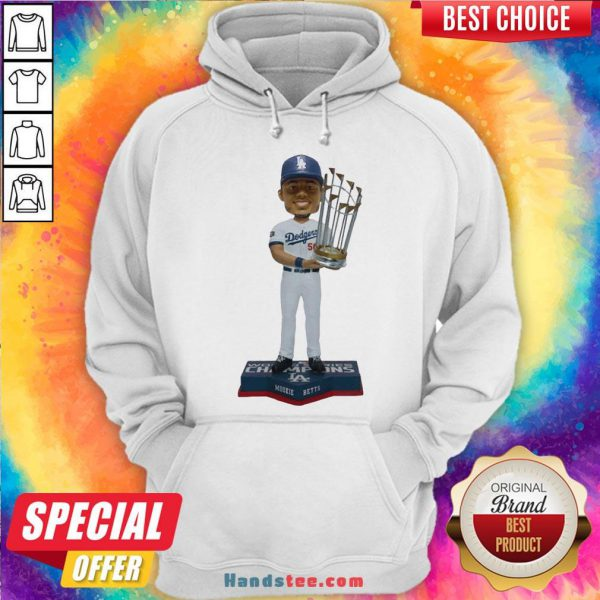 Perfect Mookie Betts Los Angeles Dodgers 2020 World Series Champions Hoodie- Design By Handstee.com
