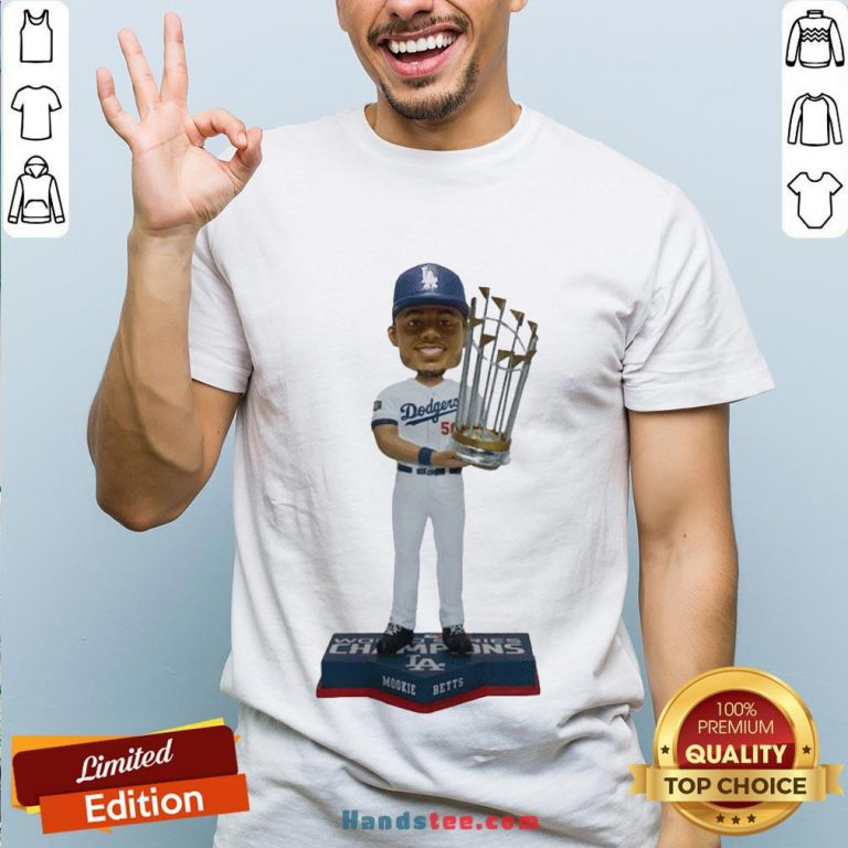 Perfect Mookie Betts Los Angeles Dodgers 2020 World Series Champions Shirt- Design By Handstee.com