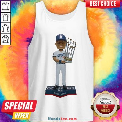 Perfect Mookie Betts Los Angeles Dodgers 2020 World Series Champions Tank Top- Design By Handstee.com