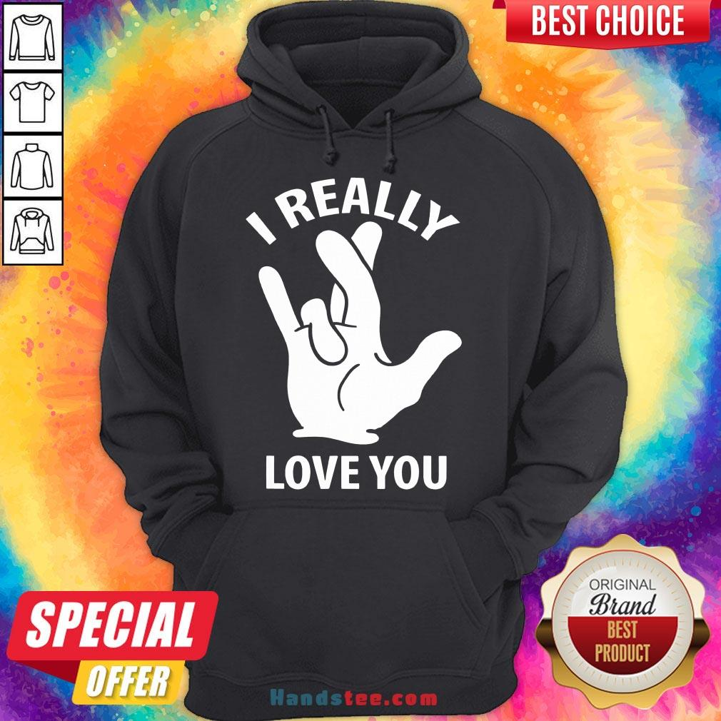 Premium I Really Love You Sign In American Sign Language ASL  Hoodie- Design By Handstee.com
