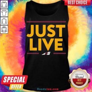 Premium Just Live Tank Top- Design By Handstee.com