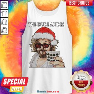 Premium The Big Lebowski The Dude Abides Ugly Christmas Tank Top- Design By Handstee.com