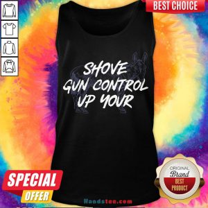 Pretty Shove Gun Control Up Your Horse Tank Top- Design By Handstee.com