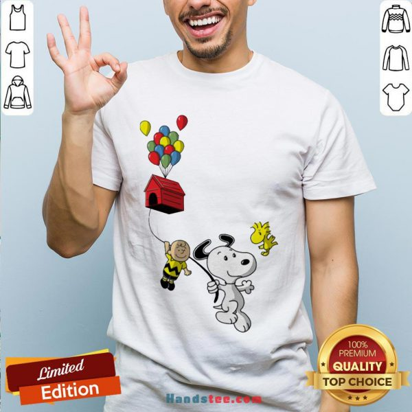 Snoopy And Charlie Brown Woodstock Balloon Shirt - Design By Handstee.com