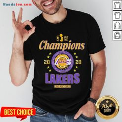 2020 Los Angeles Lakers National Basketball Association Champions Shirt - Design by Handstee.com