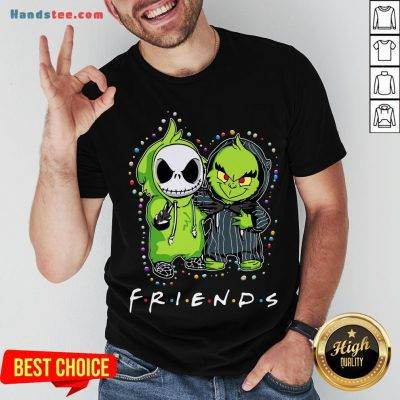 Baby Jack Skeleton And Baby Green Friends Light Christmas Shirt - Design by Handstee.com