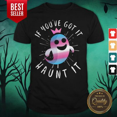 Cute Transgender Ghost Funny Halloween Pun Trans Pride Quote Shirt