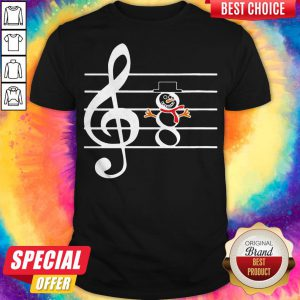 Funny Music Snowman Christmas Shirt