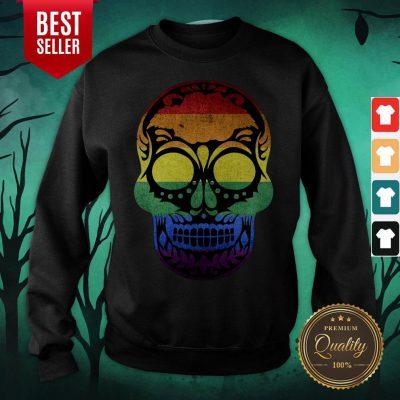 Dia De Los Muertos Steampunk Sugar Skull Halloween Sweatshirt