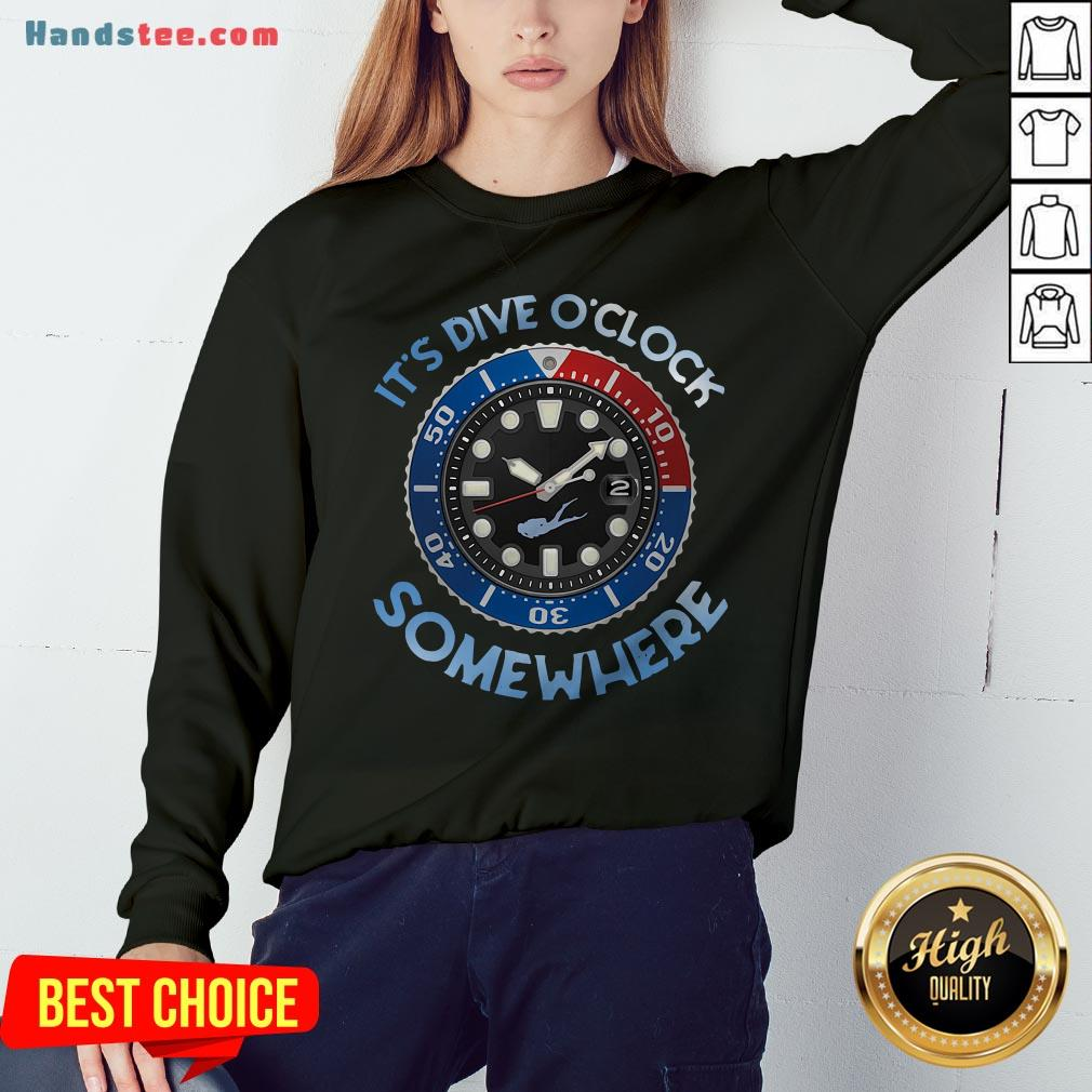 Awesome Scuba Diving It's Five O'clock Somewhere Sweatshirt - Design By Handstee.com