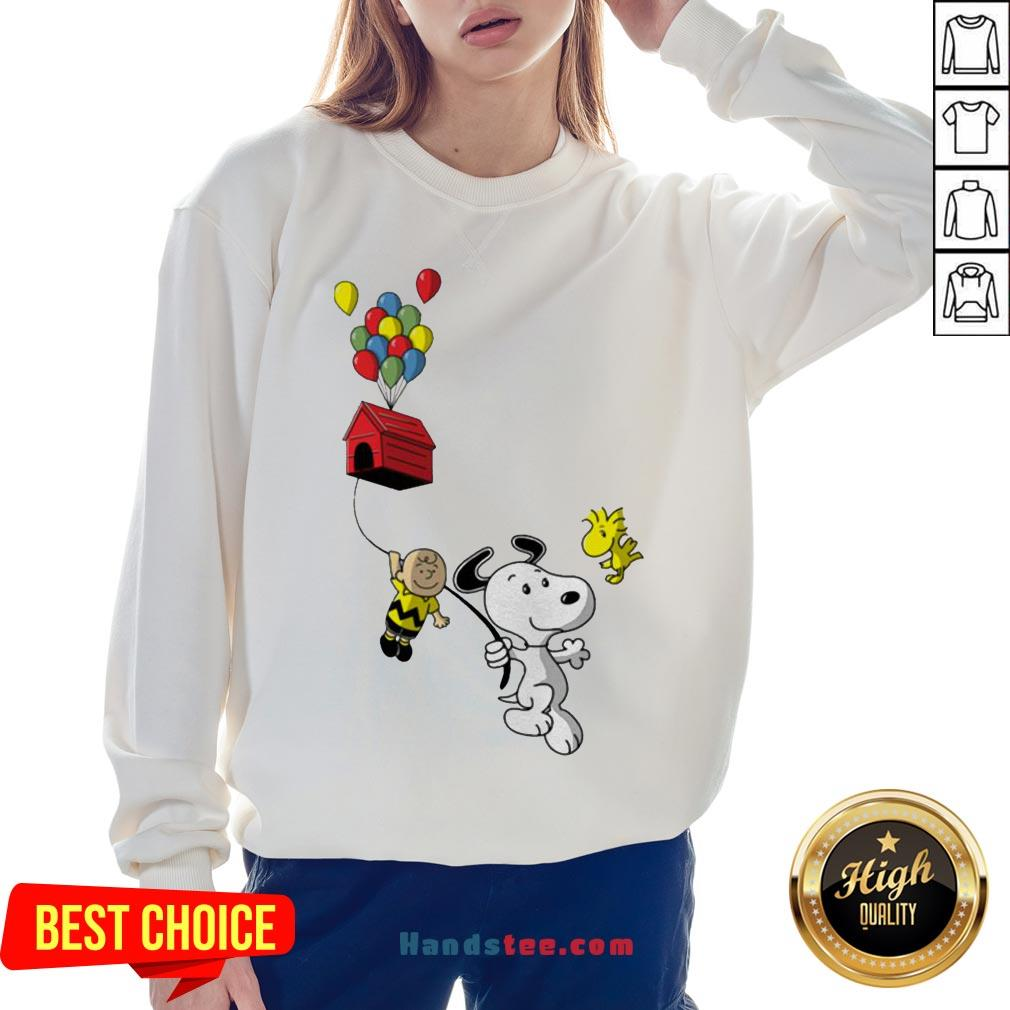 Snoopy And Charlie Brown Woodstock Balloon Sweatshirt - Design By Handstee.com