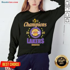 2020 Los Angeles Lakers National Basketball Association Champions Sweatshirt - Design by Handstee.com