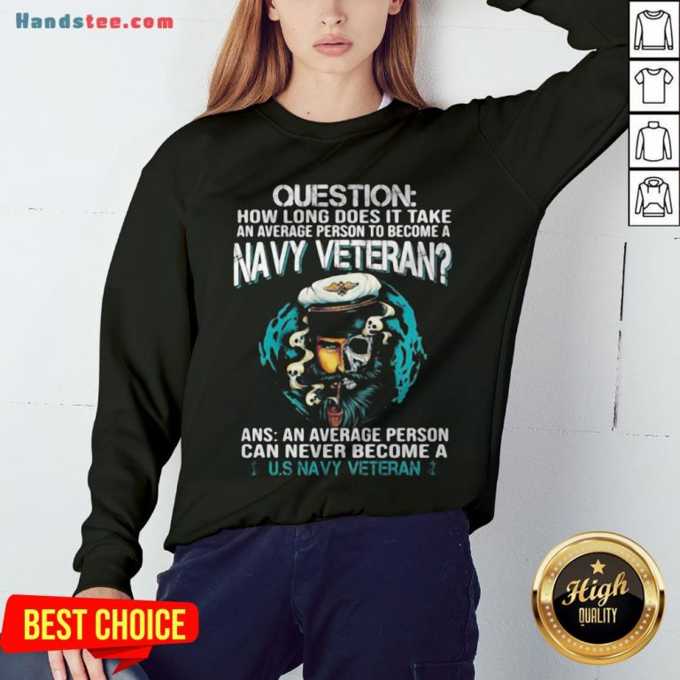 Question How Long Does It Take An Average Person To Become A Navy Veteran Skull Sweatshirt - Design By Handstee.com