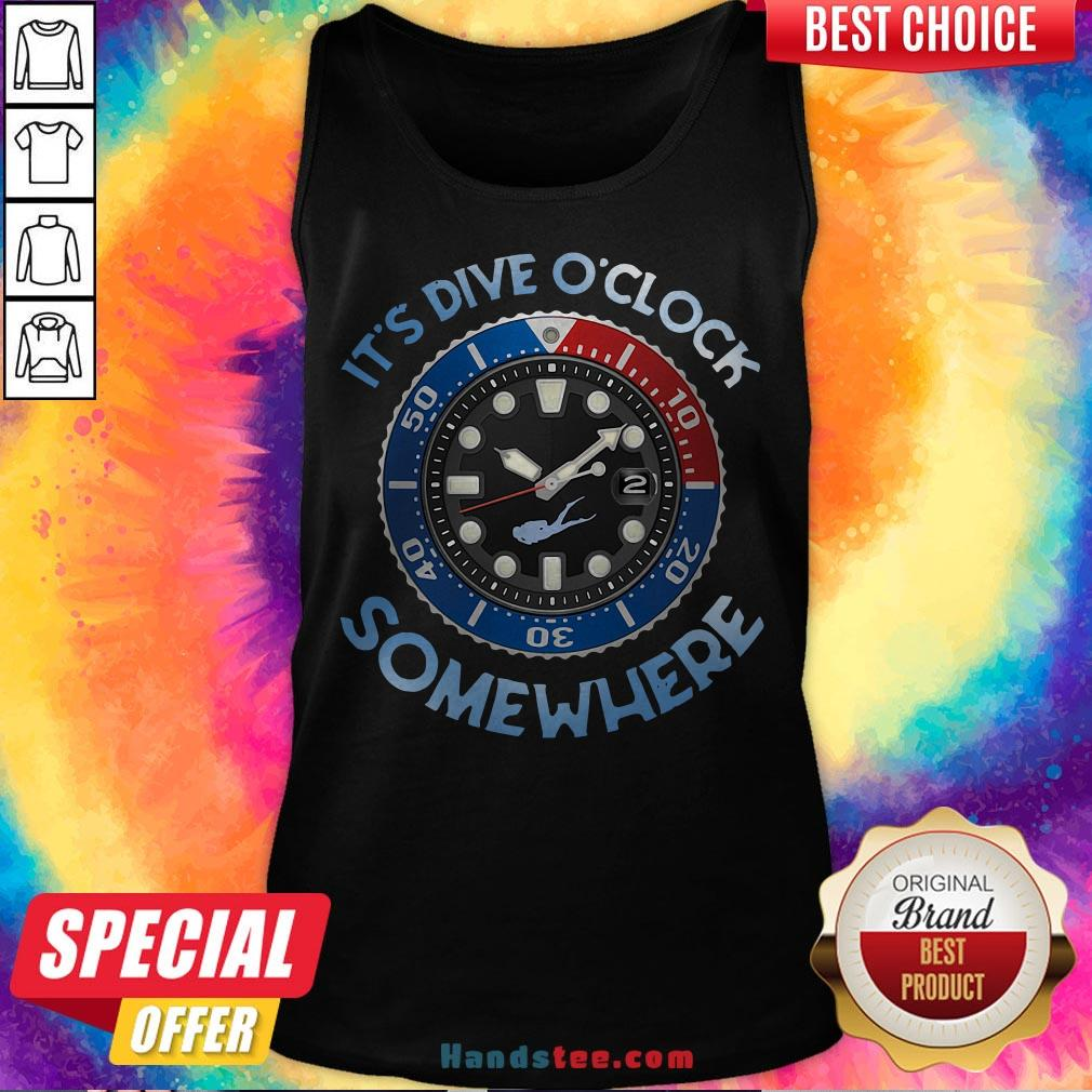 Awesome Scuba Diving It's Five O'clock Somewhere Tank Top - Design By Handstee.com