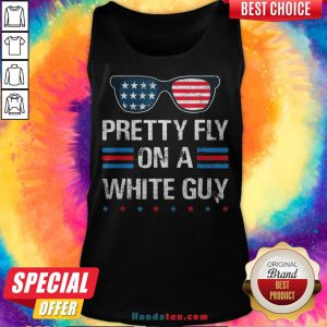 Nice Glasses Pretty Fly On A White Guy Tank Top - Design By Handstee.com