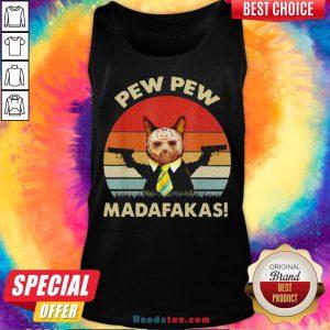 Cat Jason Voorhees Pew Pew Madafakas Vintage Retro Tank Top - Design By Handstee.com