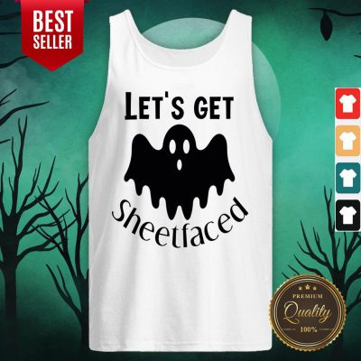 Let's Get Sheetfaced Ghost Halloween Tank Top