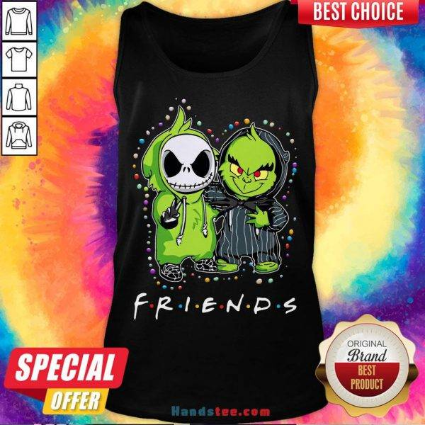 Baby Jack Skeleton And Baby Green Friends Light Christmas Tank Top - Design by Handstee.com