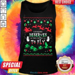 Everyone Deserves The Chance To Fly Ugly Christmas Tank Top - Design by Handstee.com