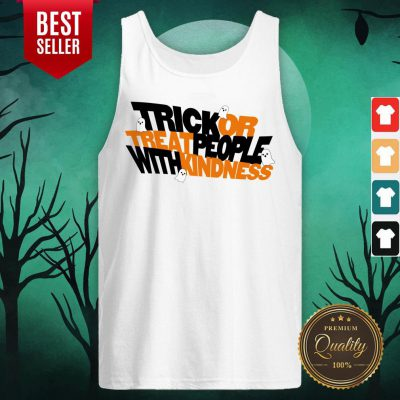 Trick Or Treat People With Kindness Ghost Halloween Tank Top