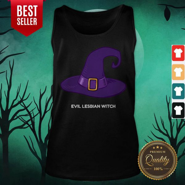Evil Lesbian Witch Hat Halloween Tank Top