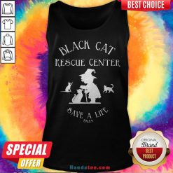 Black Cat Rescue Center Save A Life Salem Witch Halloween Tank Top - Design By Handstee.com