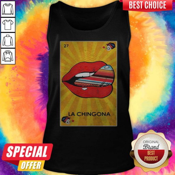 Awesome La Chingona Lips Tank Top