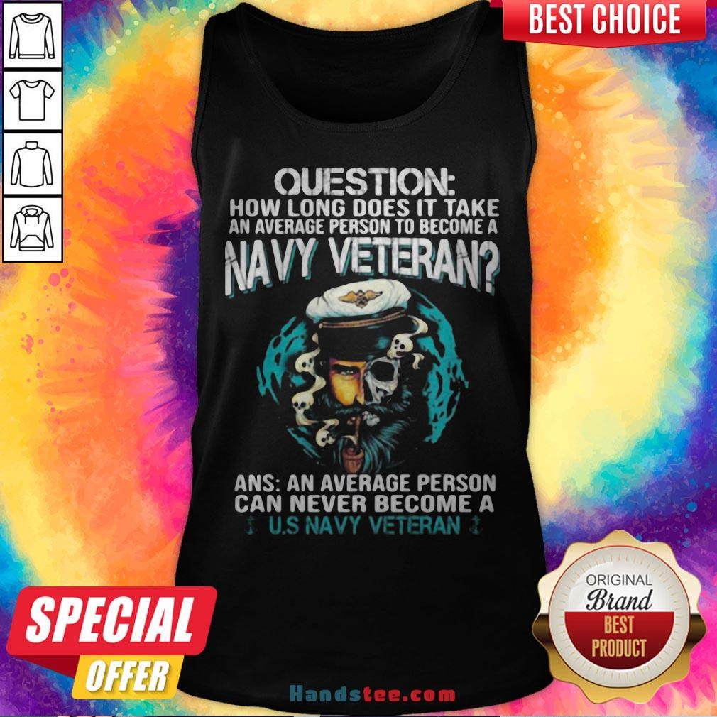 Question How Long Does It Take An Average Person To Become A Navy Veteran Skull Tank Top - Design By Handstee.com