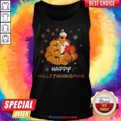 Scooby Doo Happy Hallothanksmas Christmas Halloween Tank Top - Design By Handstee.com