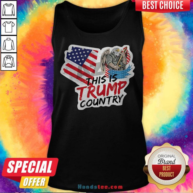 This Is Trump Country Supporter Arizona Political America Flag Tank Top - Design By Handstee.com
