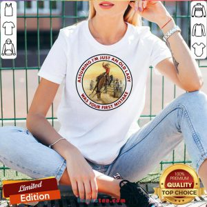 Top Cowboy Girl Riding Horse Assuming I'M Just An Old Lady Was Your First Mistake V-neck-Design By Handstee.com