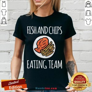 Top Fish And Chips Eating Team V-neck- Design By Handstee.com