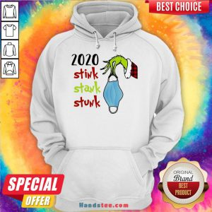 Top Grinch Hand Holding Mask 2020 Stink Stank Stunk Christmas Sweater Hoodie- Design By Handstee.com