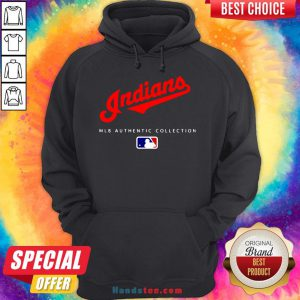 Top Mlb Authentic Collections Cleveland Indians Hoodie- Design By Handstee.com