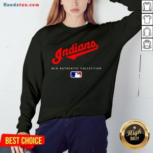 Top Mlb Authentic Collections Cleveland Indians Sweatshirt- Design By Handstee.com