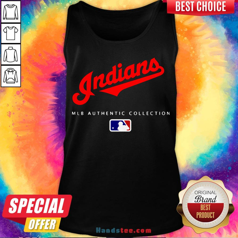 Top Mlb Authentic Collections Cleveland Indians Tank Top- Design By Handstee.com