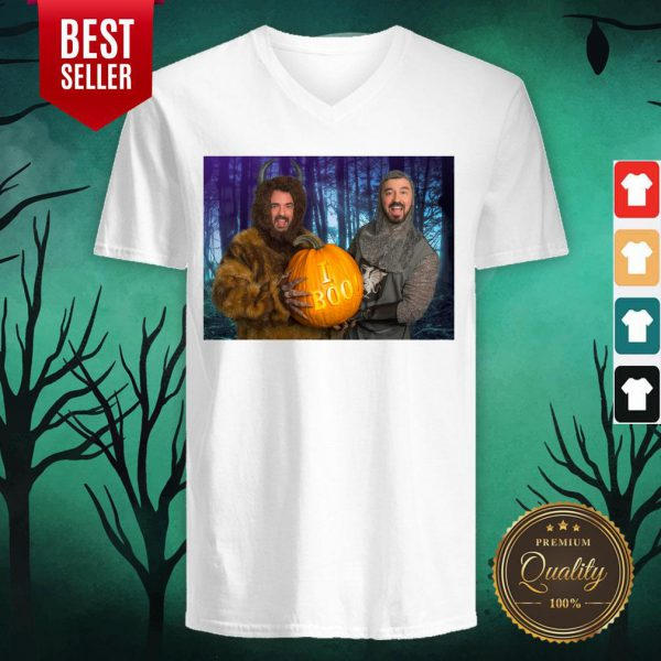 Marc And Fausto Wedding Monsters Pumpkin Halloween V-neck