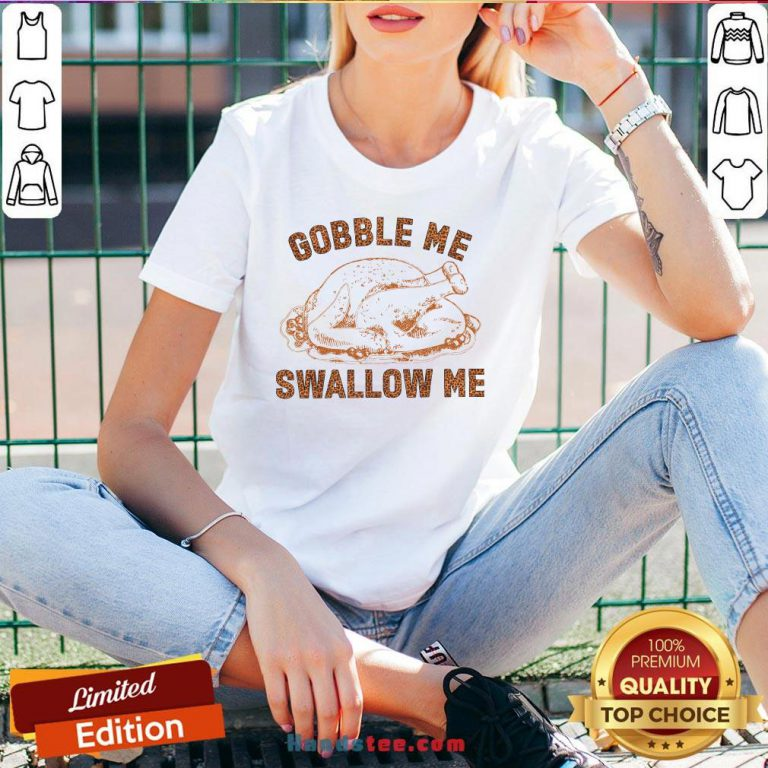 Pretty Chicken Gobble Me Swallow Me V-neck - Design By Handstee.com